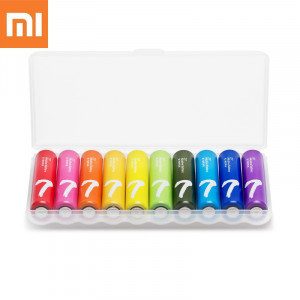 50PCS Original XiaoMi Rainbow AAA Battery Disposable Batteries Kit